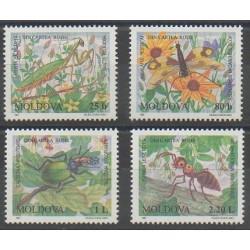 Moldavie - 1997 - No 201/204 - Insectes