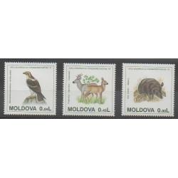 Moldova - 1995 - Nb 129/131 - Animals