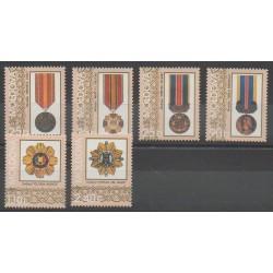 Moldavie - 1999 - No 272/277 - Monnaies, billets ou médailles