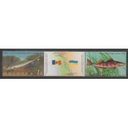Moldova - 2007 - Nb 518/519 - Sea animals - Endangered species - WWF