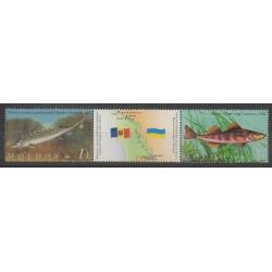 Moldavie - 2007 - No 518/519 - Animaux marins - Espèces menacées - WWF