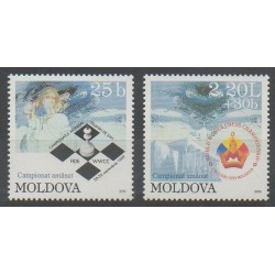 Moldavie - 1999 - No 298/299 - Échecs