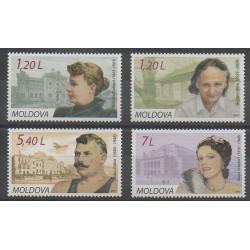 Moldavie - 2010 - No 598/601 - Célébrités