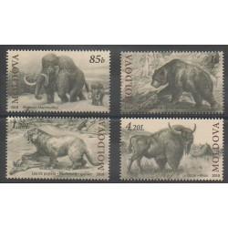Moldavie - 2010 - No 631/634 - Animaux préhistoriques
