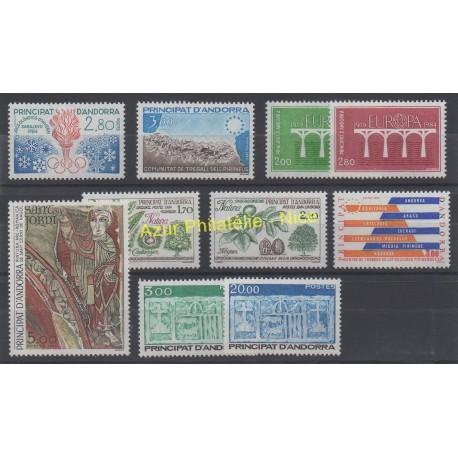 French Andorra - 1984 - Nb 327/336
