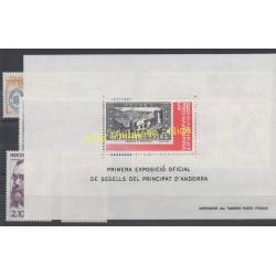 Andorre - Année complète - 1982 - No 300/309 et BF1