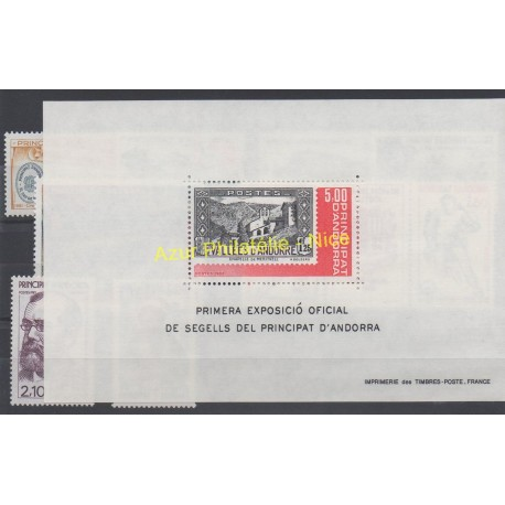 French Andorra - 1982 - Nb 300/309 et BF1