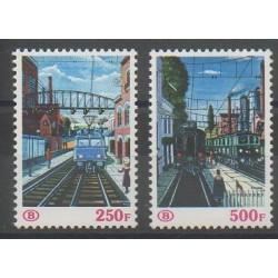 Belgique - 1985 - No CP459/CP460 - Chemins de fer