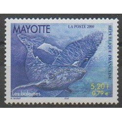 Mayotte - Poste - 2000 - No 82 - Mammifères - Animaux marins