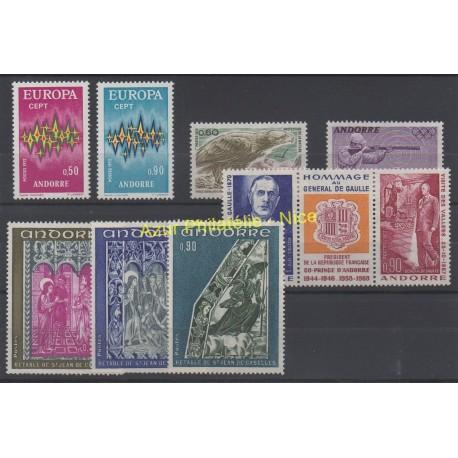 Andorre - Année complète - 1972 - No 217/225