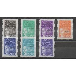 Mayotte - 1999 - Nb 62/68