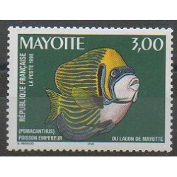 Mayotte - Poste - 1998 - No 60 - Animaux marins