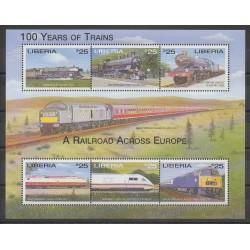 Liberia - 2001 - No 3149/3154 - Chemins de fer