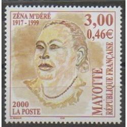 Mayotte - Poste - 2000 - No 89 - Célébrités
