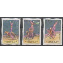Ouzbékistan - 2009 - No 740/742 - Cirque