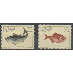 Portugal (Madère) - 1986 - No 109/110 - Animaux marins