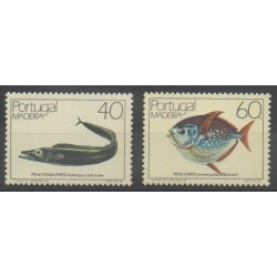 Portugal (Madère) - 1985 - No 103/104 - Animaux marins