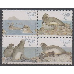 Portugal (Madeira) - 1993 - Nb 171/174 - Mamals - Sea animals