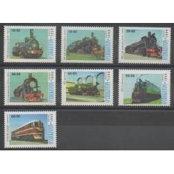 Ouzbékistan - 1999 - No 131/137 - Chemins de fer