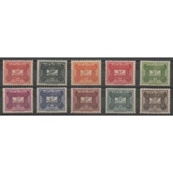 Afrique Equatoriale Française - 1947 - No T12/T21