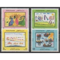 Qatar - 1992 - No 618/621 - Dessins d'enfants