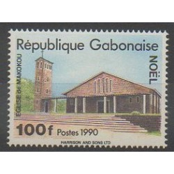 Gabon - 1990 - No 685E - Églises