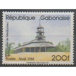 Gabon - 1988 - No 655 - Églises