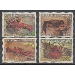 Gabon - 1993 - No 768/771 - Animaux marins