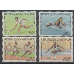 Gabon - 1988 - No 650/653 - Jeux Olympiques d'été