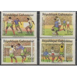 Gabon - 1989 - No 674/677 - Coupe du monde de football