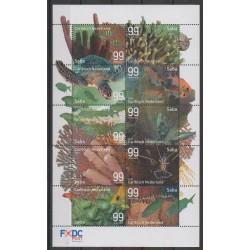 Pays-Bas caribéens - Saba - 2017 - No 36/45 - Reptiles - Animaux marins