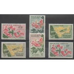 Gabon - 1961 - No 153/158 - Fleurs