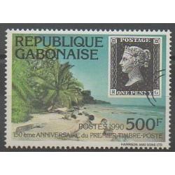Gabon - 1991 - No 694 - Timbres sur timbres - Philatélie