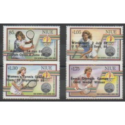 Niue - 1988 - Nb 536/539 - Various sports