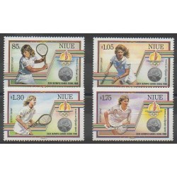 Niue - 1987 - Nb 520/523 - Summer Olympics - Various sports