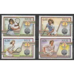 Niue - 1987 - No 520/523 - Jeux Olympiques d'été - Sports divers