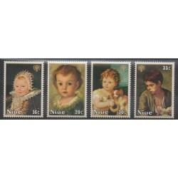 Niue - 1979 - No 228a/231a - Peinture - Enfance