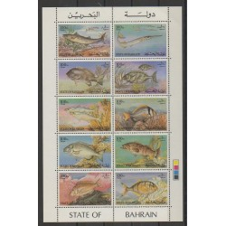 Bahrain - 1985 - Nb 331/340 - Sea animals
