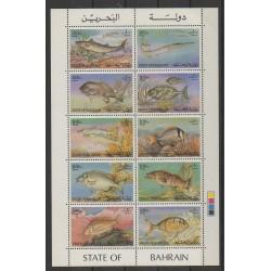 Bahrain - 1985 - Nb 331/340 - Sea animals