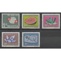 Suisse - 1959 - No 625/629 - Minéraux - Pierres précieuses - Neufs avec charnière
