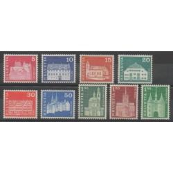 Suisse - 1968 - No 815/823 - Châteaux - Églises