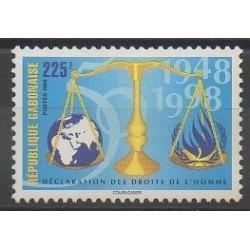Gabon - 1998 - No 968 - Droits de l'Homme