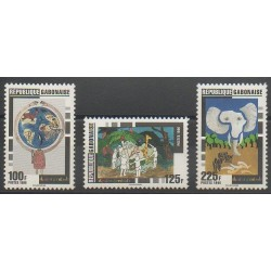 Gabon - 1996 - No 889/891 - Dessins d'enfants