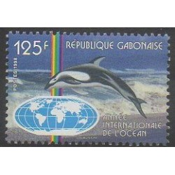 Gabon - 1998 - Nb 967 - Mamals - Sea animals