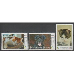 Luxembourg - 2016 - Nb 2036/2038 - Dogs - Cats