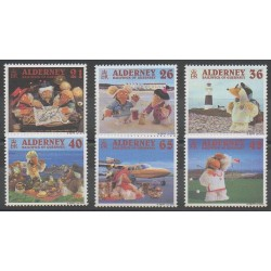 Aurigny (Alderney) - 2000 - No 152/157 - Sports divers - Tourisme