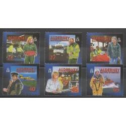 Aurigny (Alderney) - 2002 - No 200/205 - Santé ou Croix-Rouge