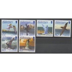 Aurigny (Alderney) - 2003 - Nb 213/218 - Birds