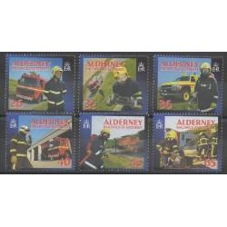 Aurigny (Alderney) - 2004 - No 243/248 - Pompiers