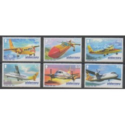Aurigny (Alderney) - 2008 - Nb 340/345 - Planes